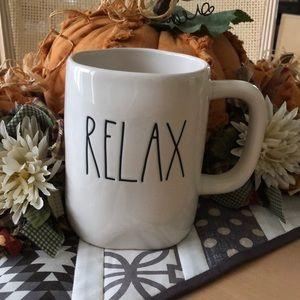 Rae Dunn RELAX Coffee Mug NWT